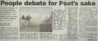 People debate for Peat's sake CLIP THUMBNAIL